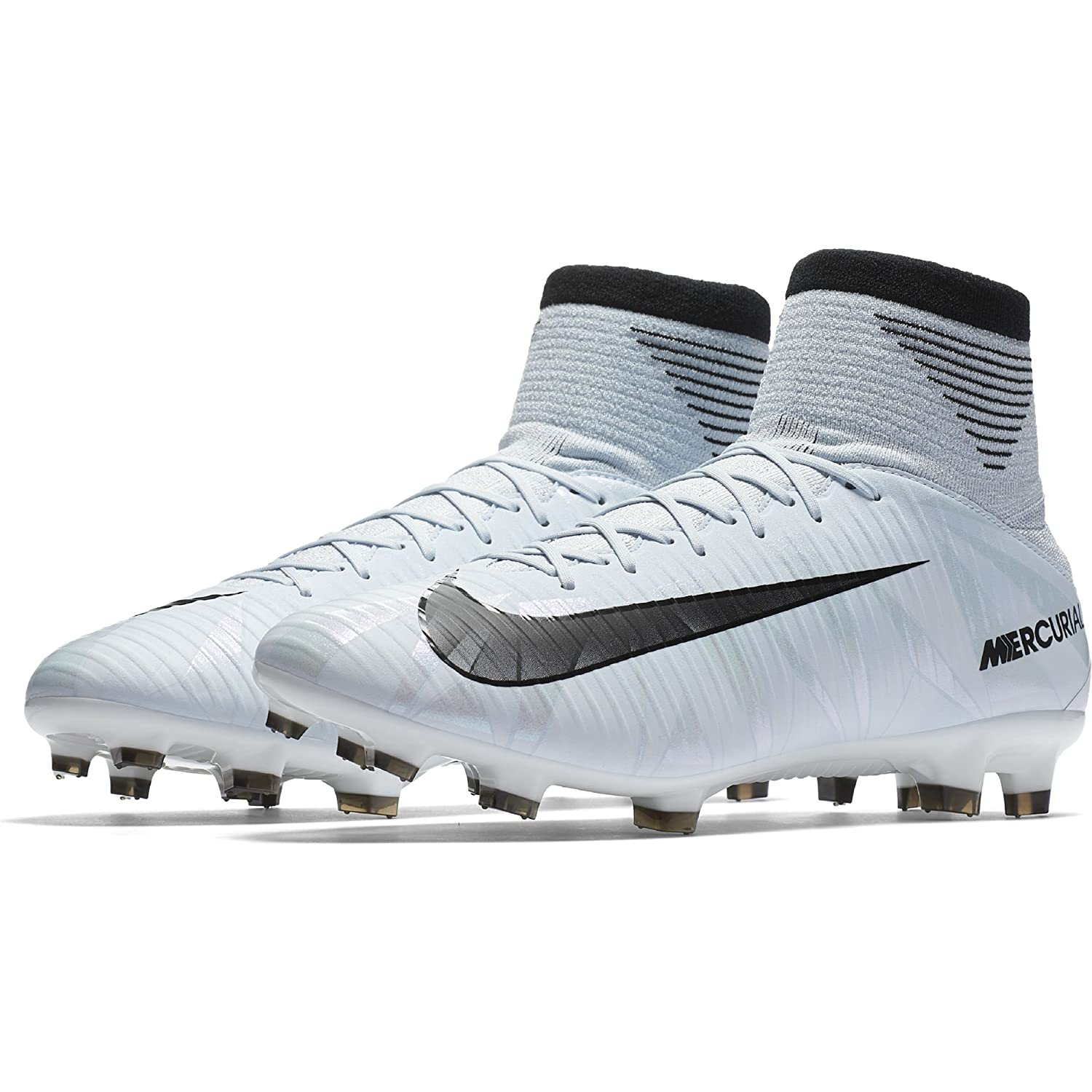 Obediencia tumor Activo  Buy Nike Men's Mercurial Veloce III DF FG Soccer Cleat (SZ. 8.5) Blue Tint,  White at Amazon.in