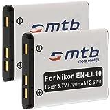 2x Batteria EN-EL10 per Nikon Coolpix S700, S3000, S4000, S5100... vedi lista!