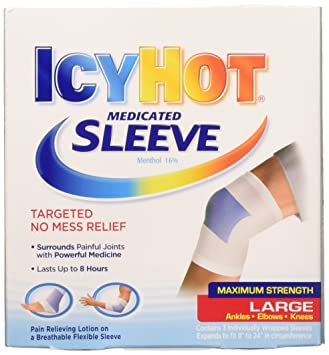icy hot  : Icy Hot Extra Strength, Flexible Knee and Ankle Sleeve ...