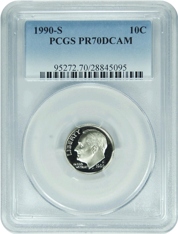 Lot of 20 PCGS PR70 DCAM Graded Coins Roosevelt Dimes 10c 1990s Proof 70