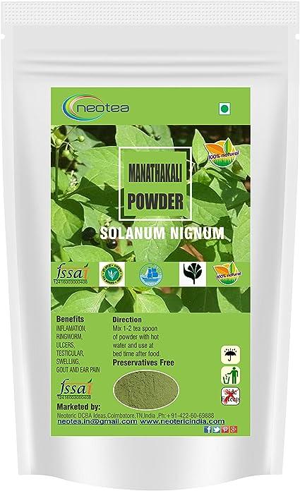 Amazon.com: neotea manathakkali en polvo (Solanum Nigrum ...