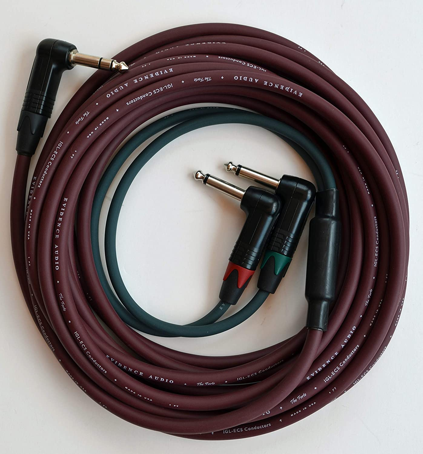 Burgundy Red Evidence Audio Monorail Signal Cable