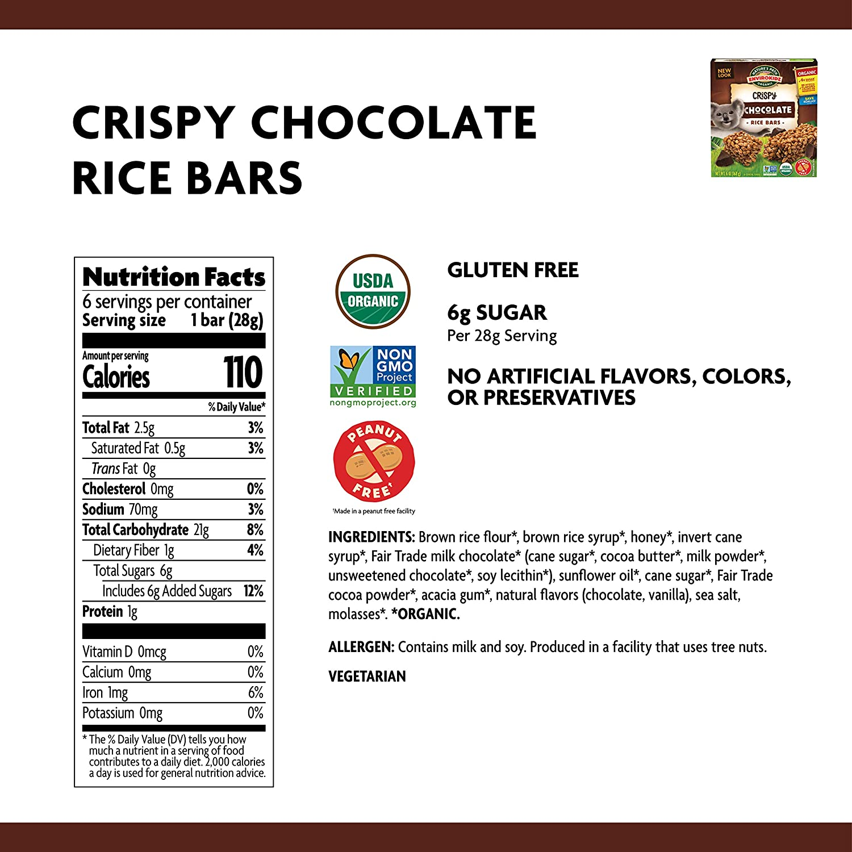 c9f966d6c Amazon.com: Nature's Path EnviroKidz Chocolate Crispy Rice Bars, Healthy,  Organic, Gluten-Free, Peanut Free 6 Ounce Box (Pack of 6)