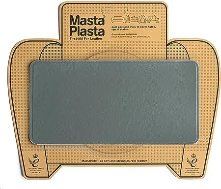MastaPlasta - Parches AUTOADHESIVOS para reparación de Cuero y Otros Tejidos. Gris. Elije el tamaño y el diseño. Primeros Auxilios para sofás, Asientos de Coche, Bolsos, Chaquetas: Amazon.es: Hogar