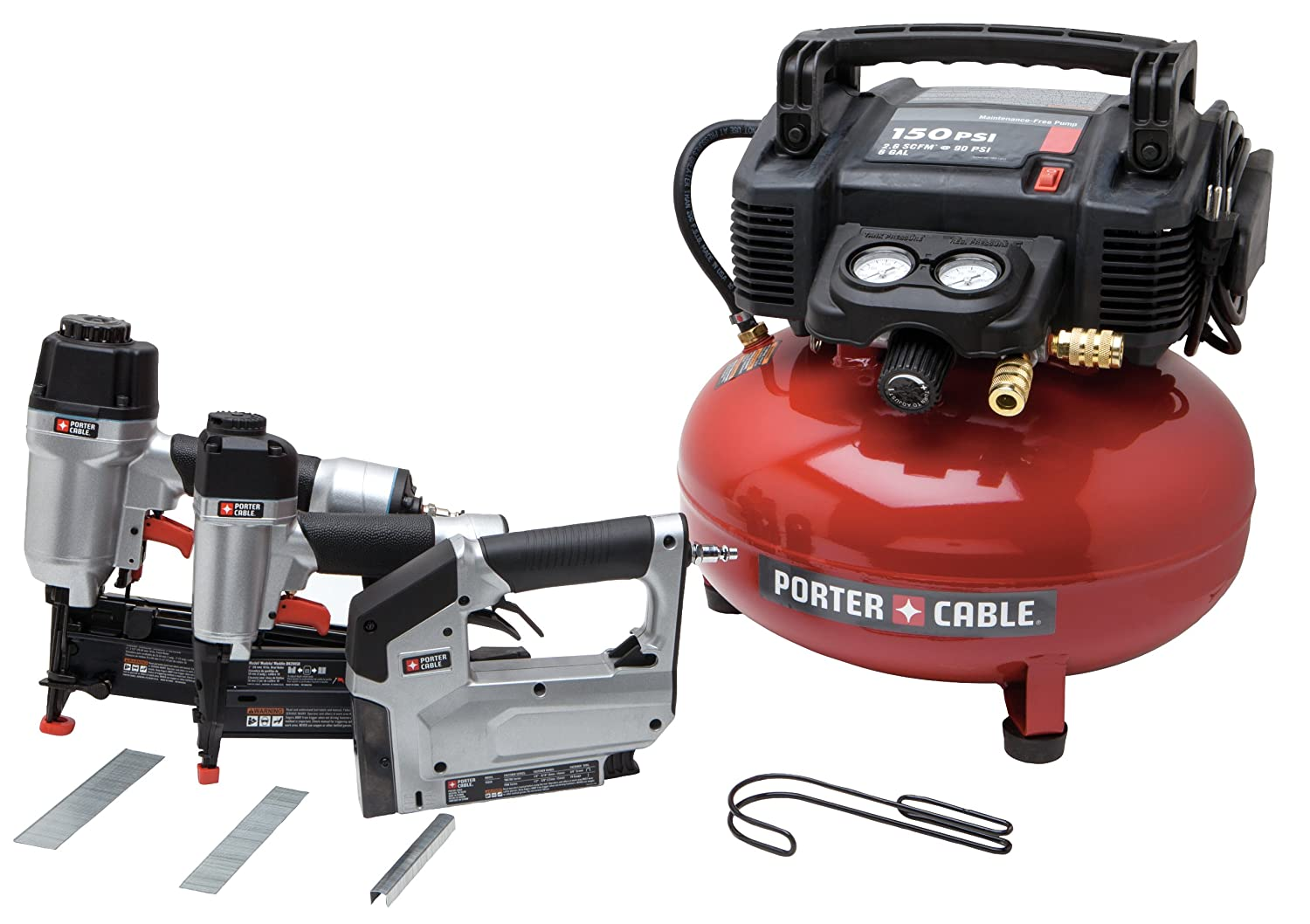 1. <strong>Porter Cable PCFP12234 3 in 1 air tool combo kit</strong>