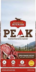 Rachael Ray Nutrish PEAK Nutrient Dense Dry Dog Food, Grain Free