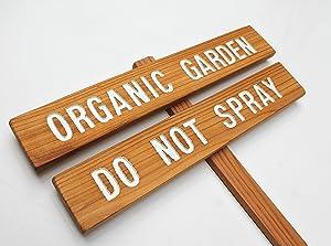 Organic Garden Sign Do Not Spray, Save the Bees, Wood Garden Sign, gardener gift, Bee Keeping Sign, Anti Monsanto