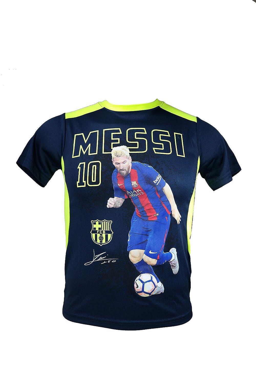 FCバルセロナメッシ10数公式ユースサッカー署名パフォーマンスPoly Jersey – yl06 B07BGXCK24Youth