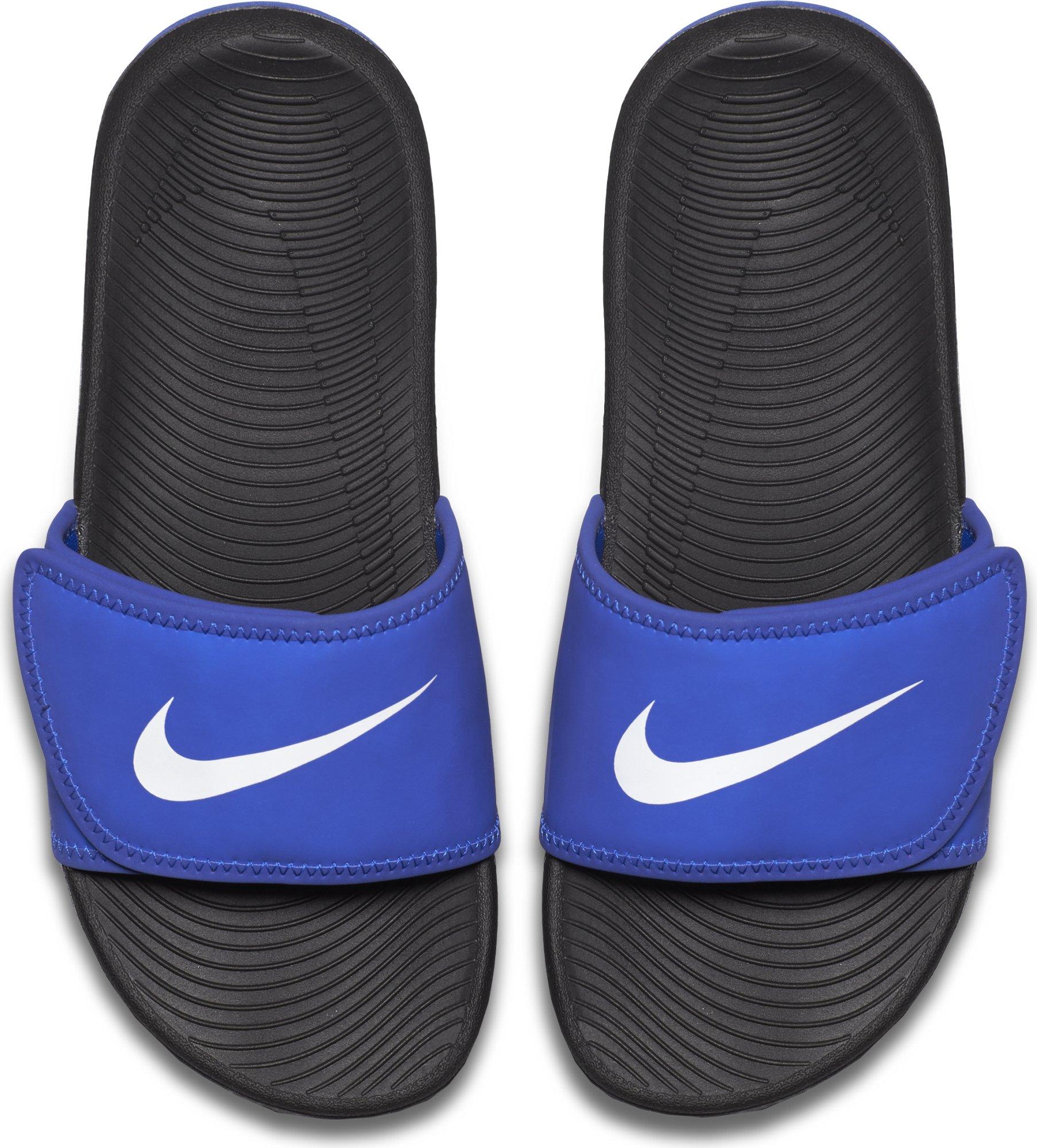 NIKE Kids' Kawa Slide Sandal, Racer Blue/White, 1 M US Little Kid