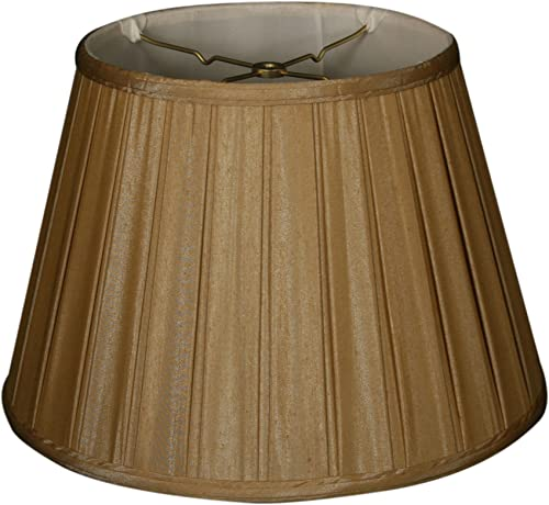 Royal Designs Empire Side Pleat Basic Lamp Shade, Antique Gold, 12.5 x 20 x 13.5
