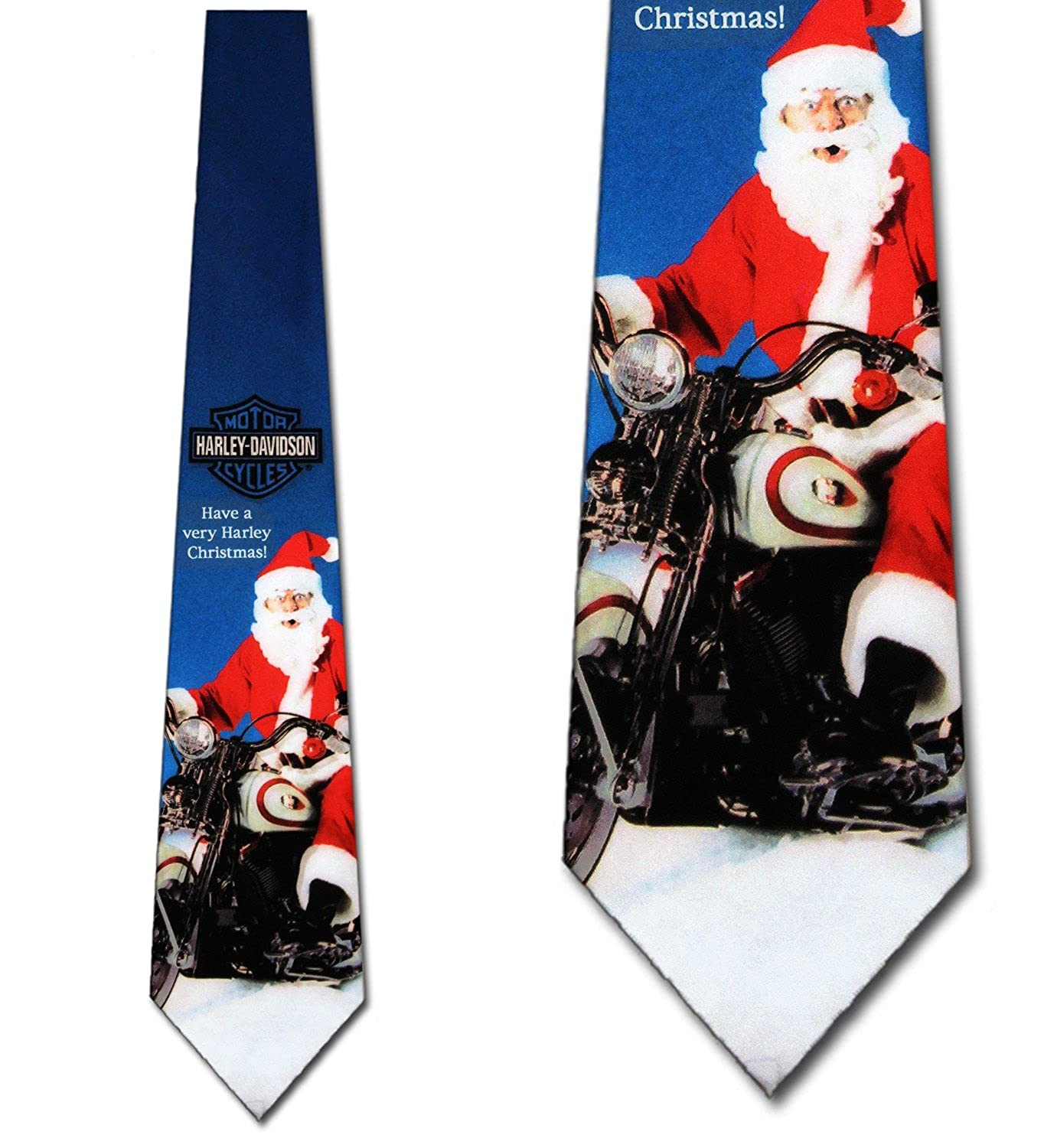 Harley Christmas Ties Men\'s Holiday Necktie at Amazon Men\'s Clothing ...