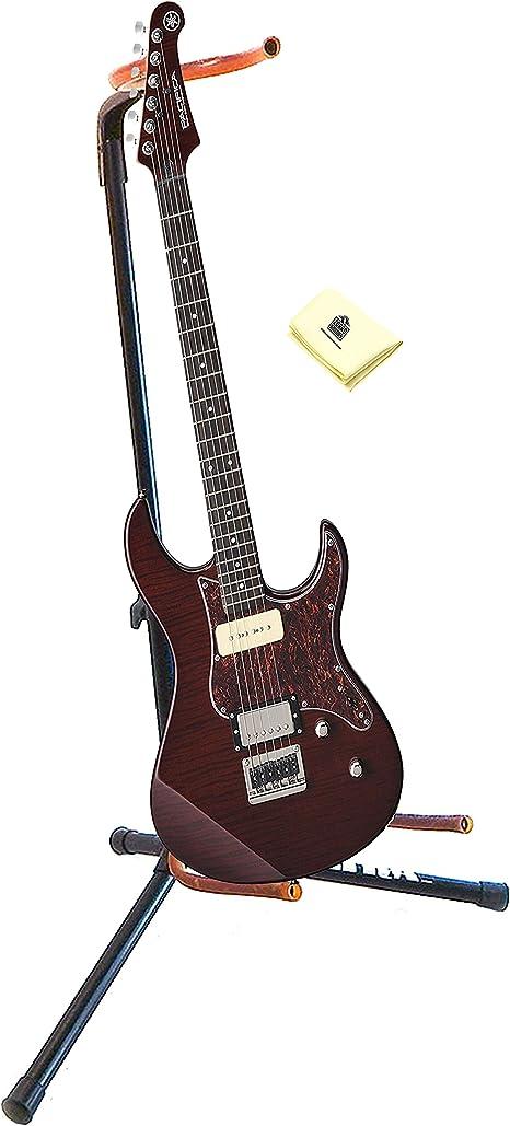 Yamaha PAC611HFM RB - Guitarra eléctrica (6 cuerdas, con soporte ...