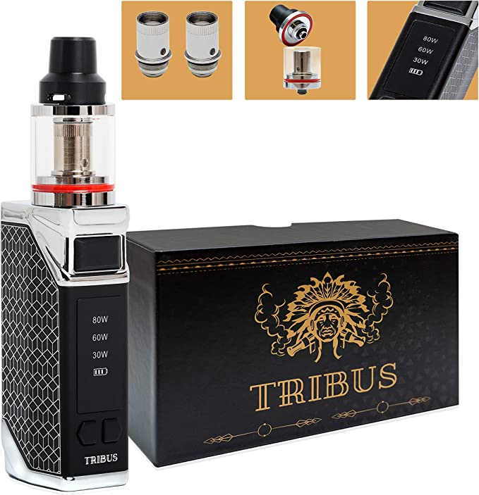 Tribus Vape E Cigarette Starter Kit Stainless Steel Box Mode Pen Led Display | E Cig