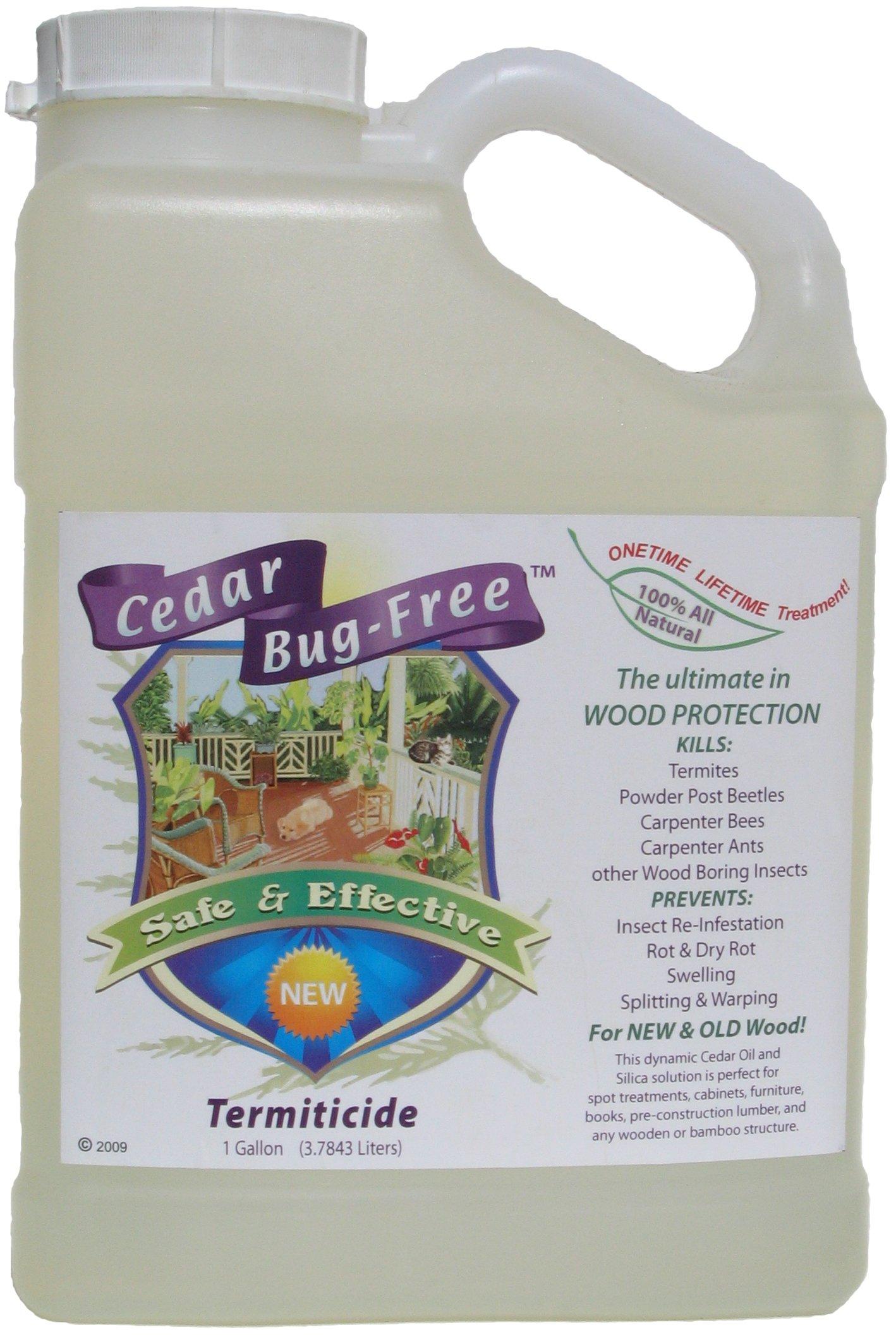 Termite Control - Cedar Bug-Free Termiticide. Natural Termite Treatment. Termite Spray - 1 gallon by Cedar Bug-Free