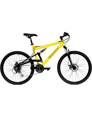 a89cde48b75 2018 Gravity FSX 1.0 Dual Full Suspension Mountain Bike with Disc Brakes,  Shimano Shifting,