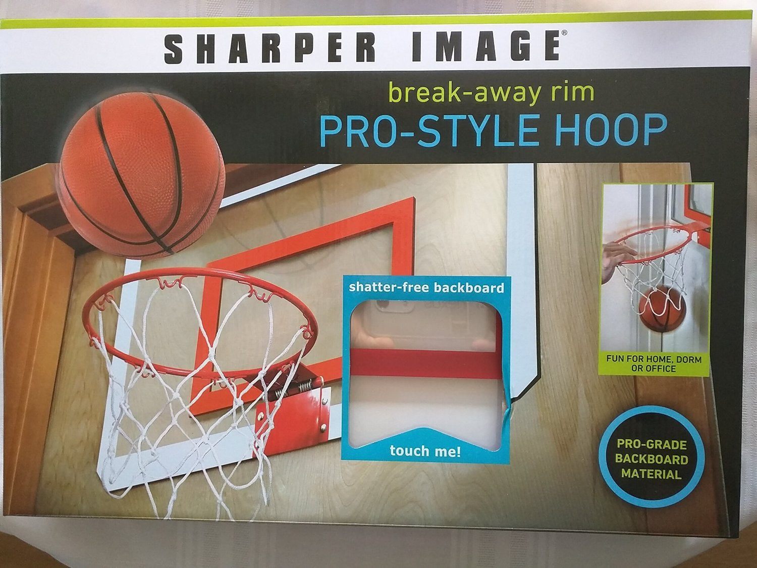 Sharper Image Break-Away Rim Pro-Style Hoop Basketball Game
