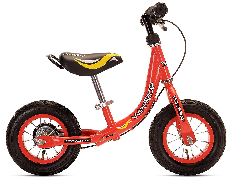 WeeRide Ersten Baby Jungen Kinder Fahrrad Rot 1 Speed Qualität Hinten Band Bremse Metall Headset und Leicht, Sattelklemme