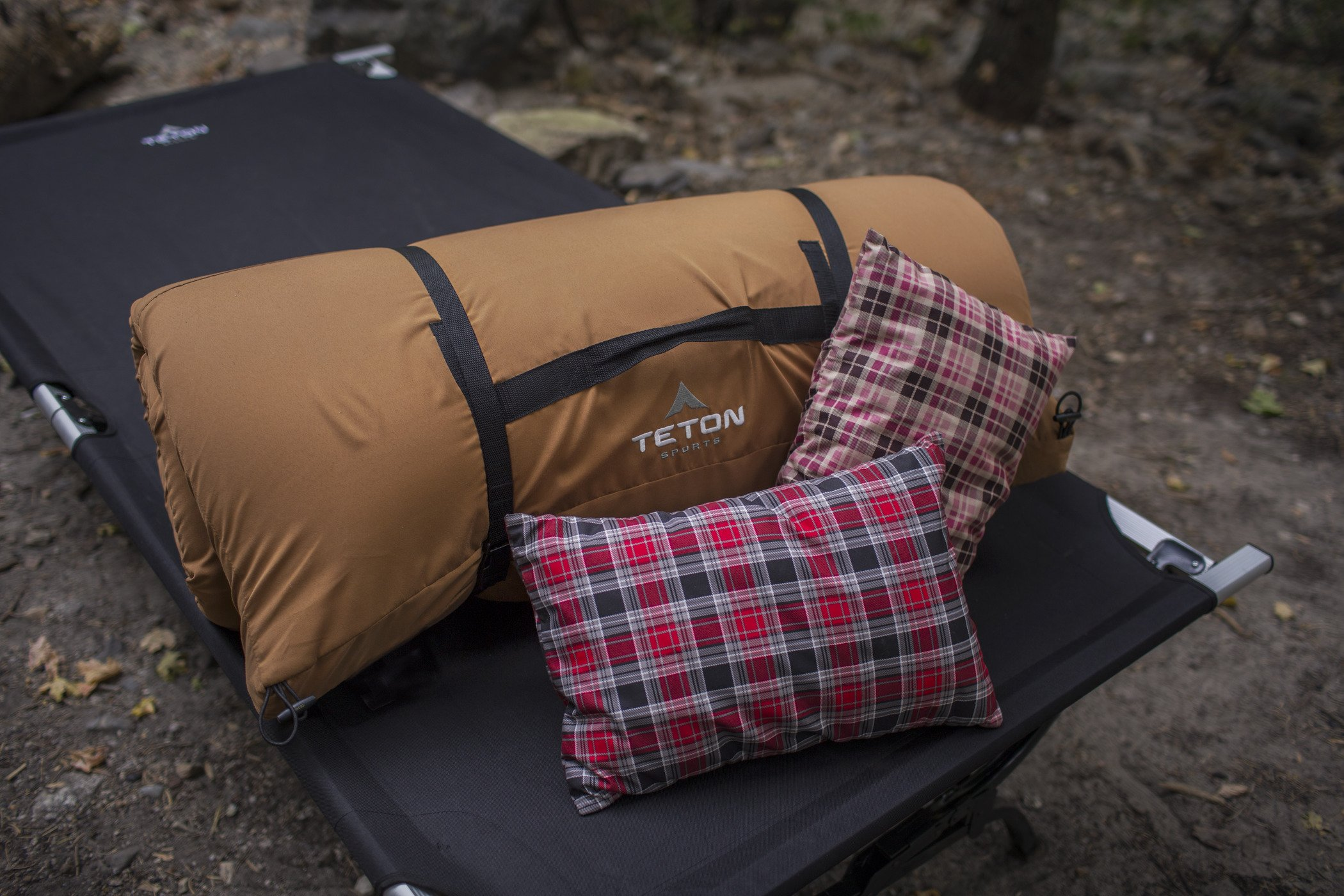 TETON Sports Outfitter XXL Camping Cot Limited Edition with Patented Pivot Arm; Camping Cots for Adults; Folding Cot Bed; Easy Set Up; Storage Bag Included