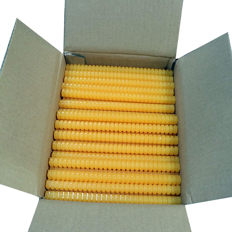 QUAD-701 High Melt Temperature Fast Set Bulk Hot Melt Glue Sticks - 8'' Quad Stick - 11 lbs - Tan by Surebonder