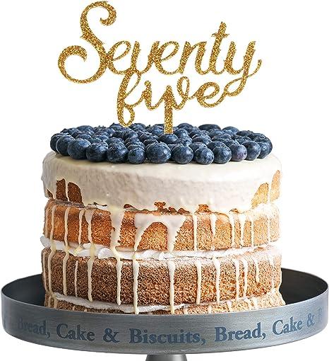 Amazon.com: Decoración para tartas de acrílico para 75 años ...