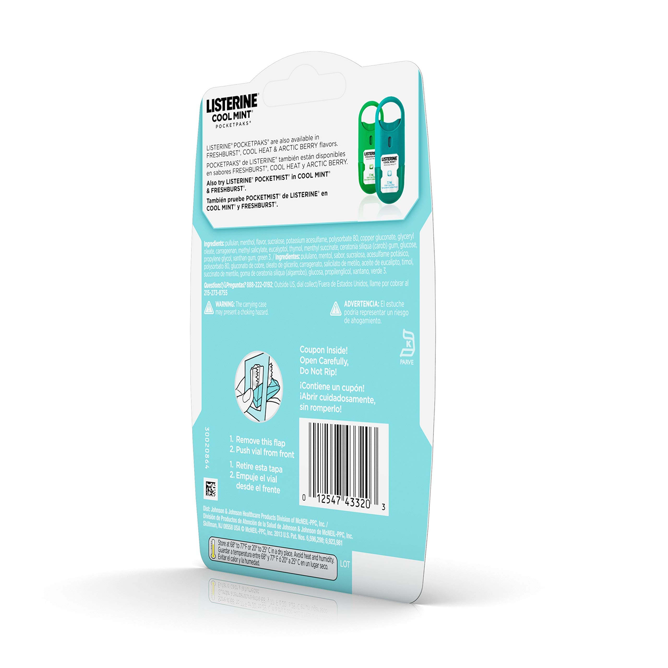 Listerine Cool Mint Pocketpaks Breath Strips Kills Bad Breath Germs, 24-Strip Pack, 3 Count (Pack Of 6) by Listerine (Image #5)