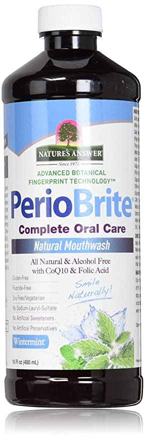 Nature's Answer Periobrite Alcohol-Free Mouthwash, Wintermint, 16 Ounce, 2 Count
