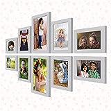 """Ajanta Royal Set of 10 Individual Photo Frames (4-4""""x6"""", 4-5""""x7"""", 2-6""""x10"""" Inch) : A-91 (White)"""