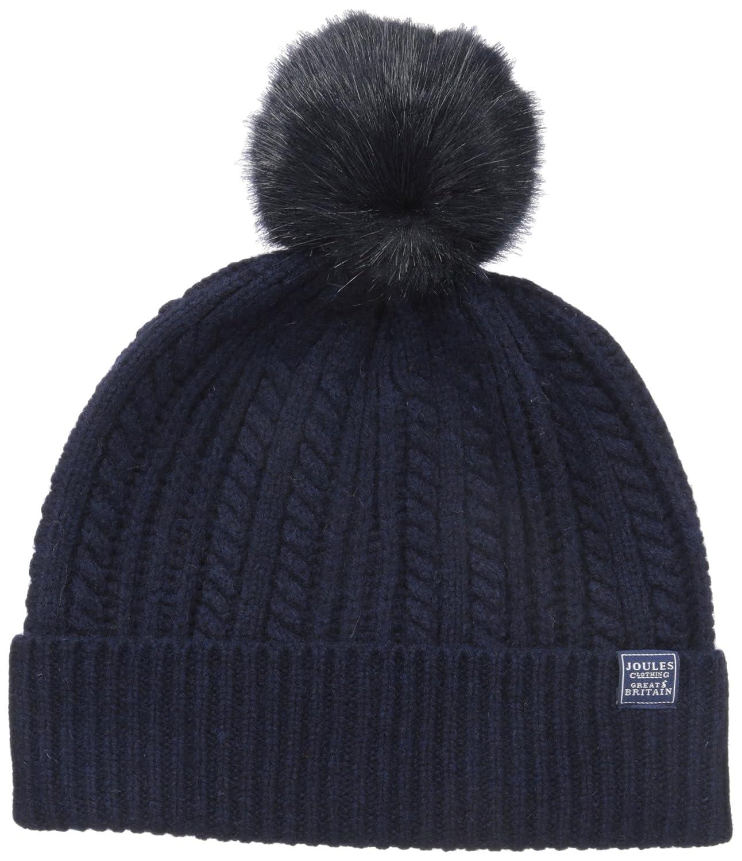 1324b1682e85b Amazon.com  Joules Women s Bobble Hat Knitted Beanie