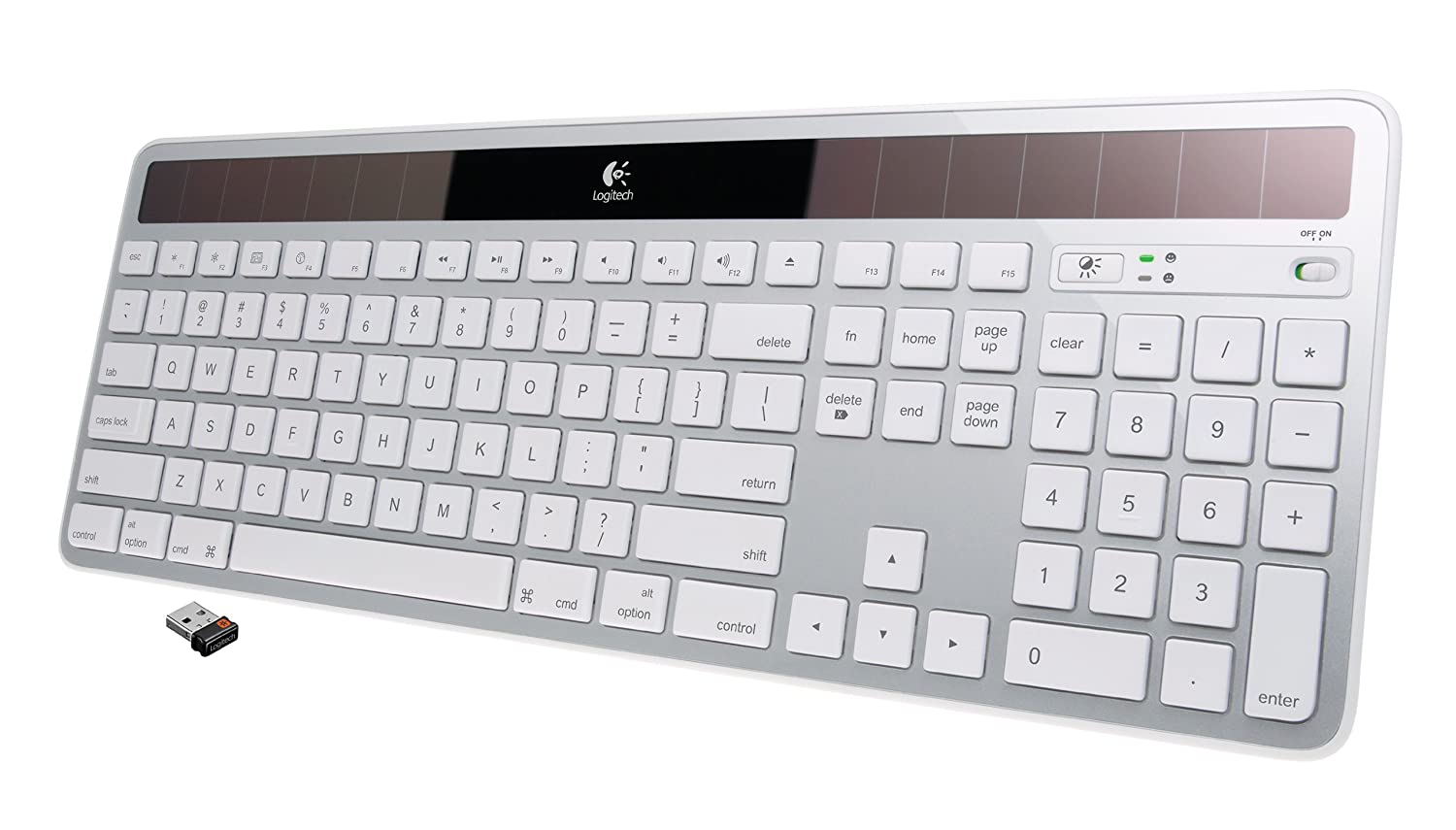 Logitech Wireless Solar Keyboard K750 for Mac - Silver