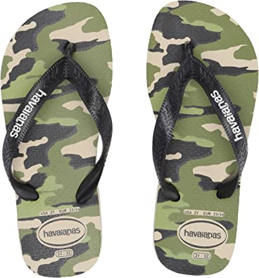 NEW Toddler Boys Flip Flops Heel Strap Shoes Small 5-6 Camo Camouflage Sandals