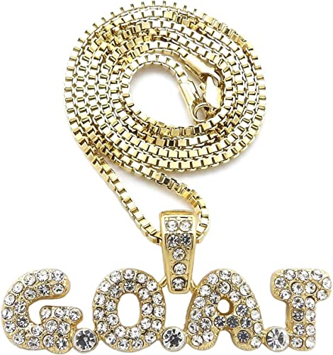 Hip Hop Number 21 Pendant 24 inches Various Chain Necklace in Gold Tone