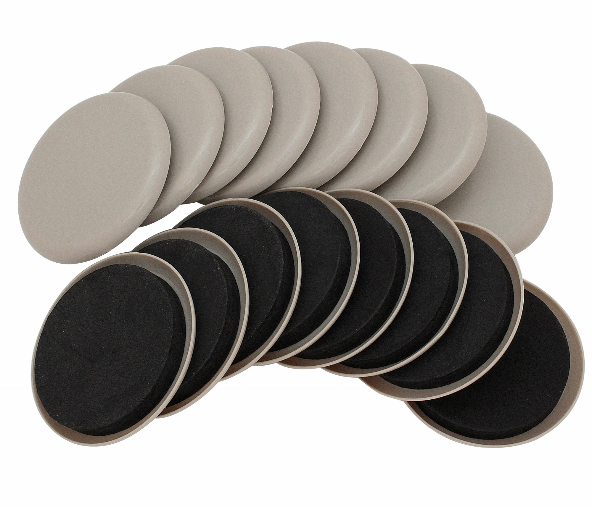 Smart Surface 8295 3-1/2'' Round Reusable Carpet Furniture Sliders 16-Pack in Resealable Bag