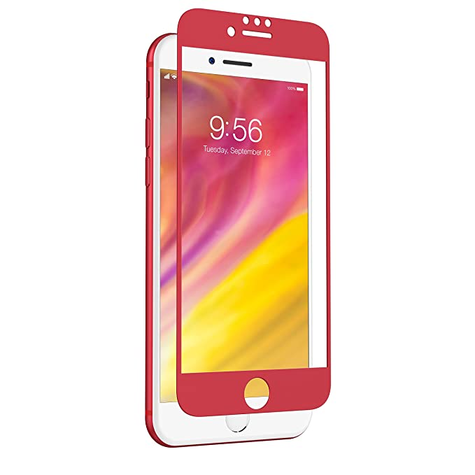 buy popular 2965f c7dc9 ZAGG InvisibleShield Glass + Luxe Screen Protector for iPhone 8 Plus/7  Plus/6s Plus/6 Plus - Red