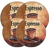 Range Kleen 5068 la Caffee Espresso Round quemador Kovers (2 small, 2 large, 4 total), Tre Sorelle Studios