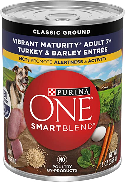 Purina One Smart Blend Vibrant Maturity Senior 7+ Formula Dog Food - The Best Wet Food for Senior Dogs