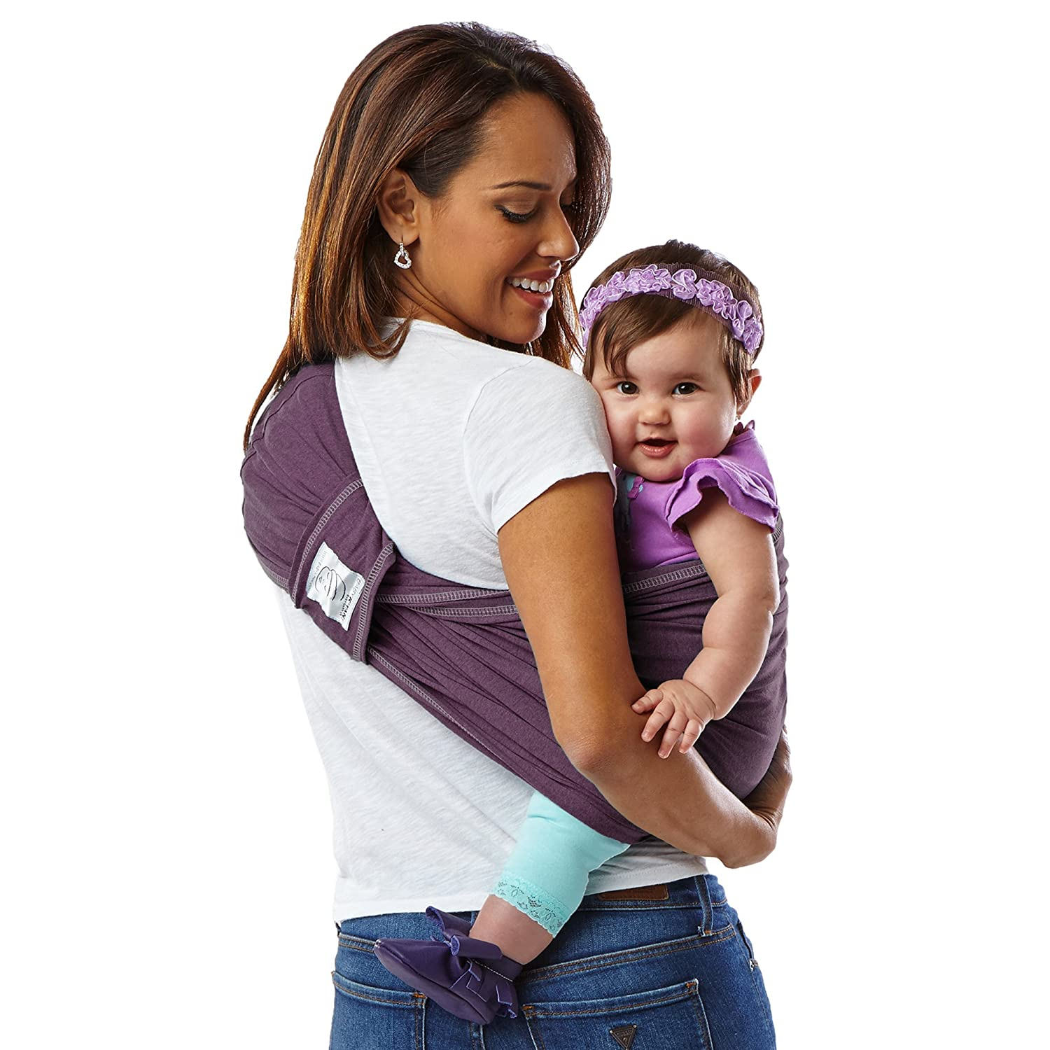 Baby Ktan Print Baby Wrap Carrier W dress up to 0 Infant and Child Sling-Navy Stripe 2X-Small Best for Babywearing. Newborn up to 35 lbs