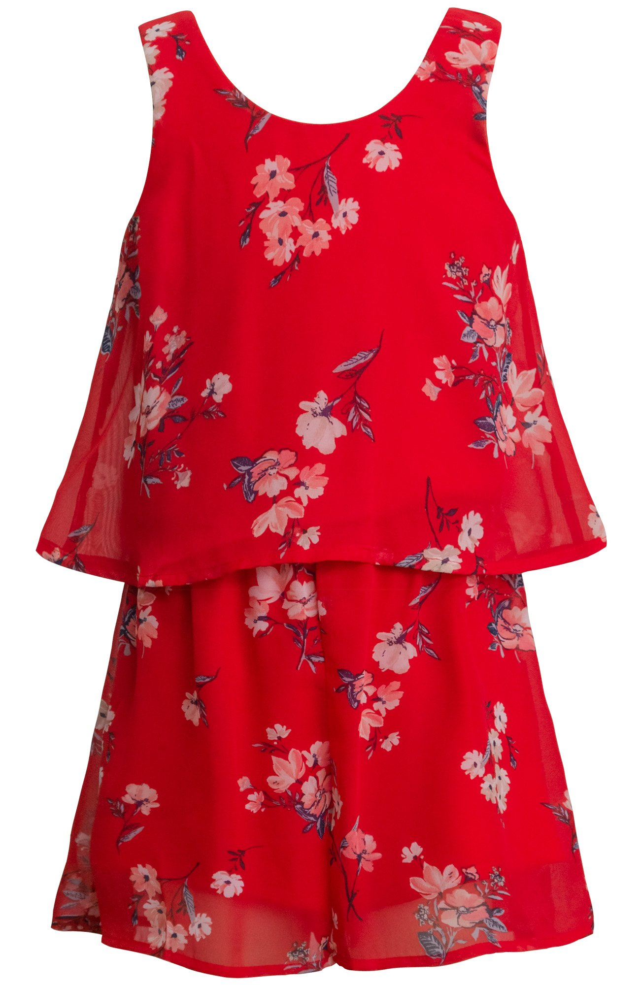 Truly Me, Charming Rompers (with Many Options), 4-6X, 7-16 (7, Red Multi)