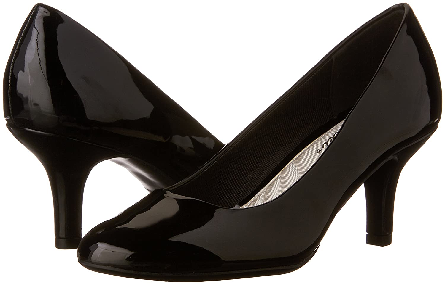 Easy Street Women's Passion Dress Pump B00F2K21E6 9.5 W US|Black Patent