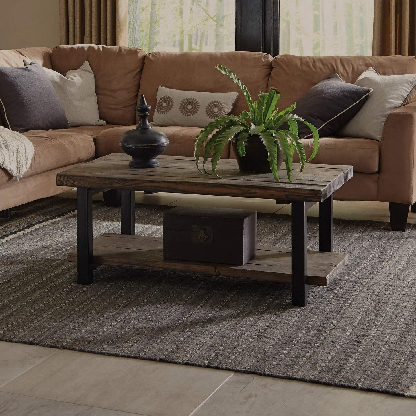 Alaterre Sonoma Rustic Natural Coffee Table, Brown, 42'' by Alaterre