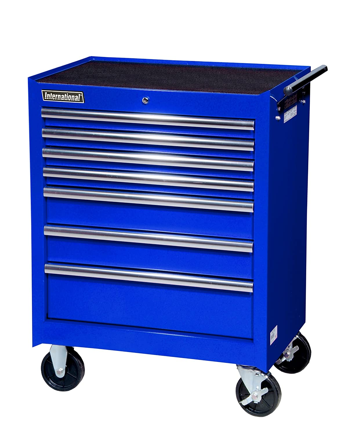 International VRB-2707BU 27-Inch 7 Drawer Blue Tool Cabinet with ...