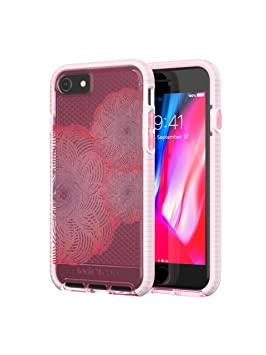 the best attitude a3f0d 35401 tech21 T21-5786 Evo Check Evoke Edition Case for iPhone 7 / 8 - Pink / Red