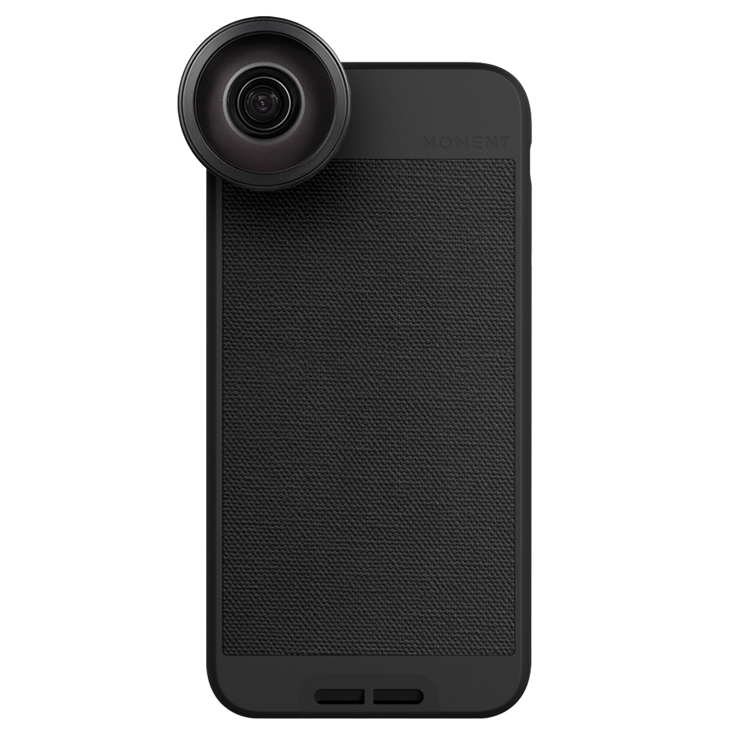 iPhone 6 Case with Fisheye Lens Kit || Moment Black Canvas Photo Case plus Superfish Lens || Best iphone fisheye attachment lens with thin protective case.
