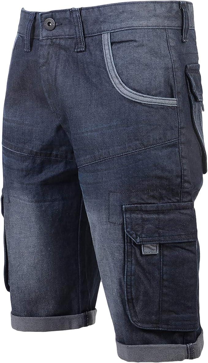 Enzo Designer Herren Regular Fit Jeans Gerades Bein Denim Hose Alle Taille