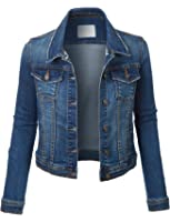 FPT Womens Cropped Denim Jacket (S-3XL) at Amazon Women's Coats Shop