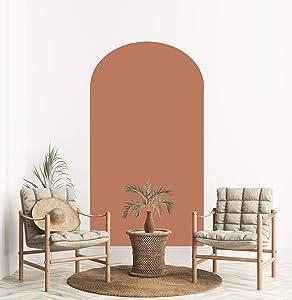 MINICK Arch Wall Decal Decor Sticker - Boho Wall Decor Sticker, Boho Decal, Wall Decals for Living Room, Wall Mural Boho Decor, Arch Wall Stickers, Wall Murals Peel and Stick, Terracotta Decor