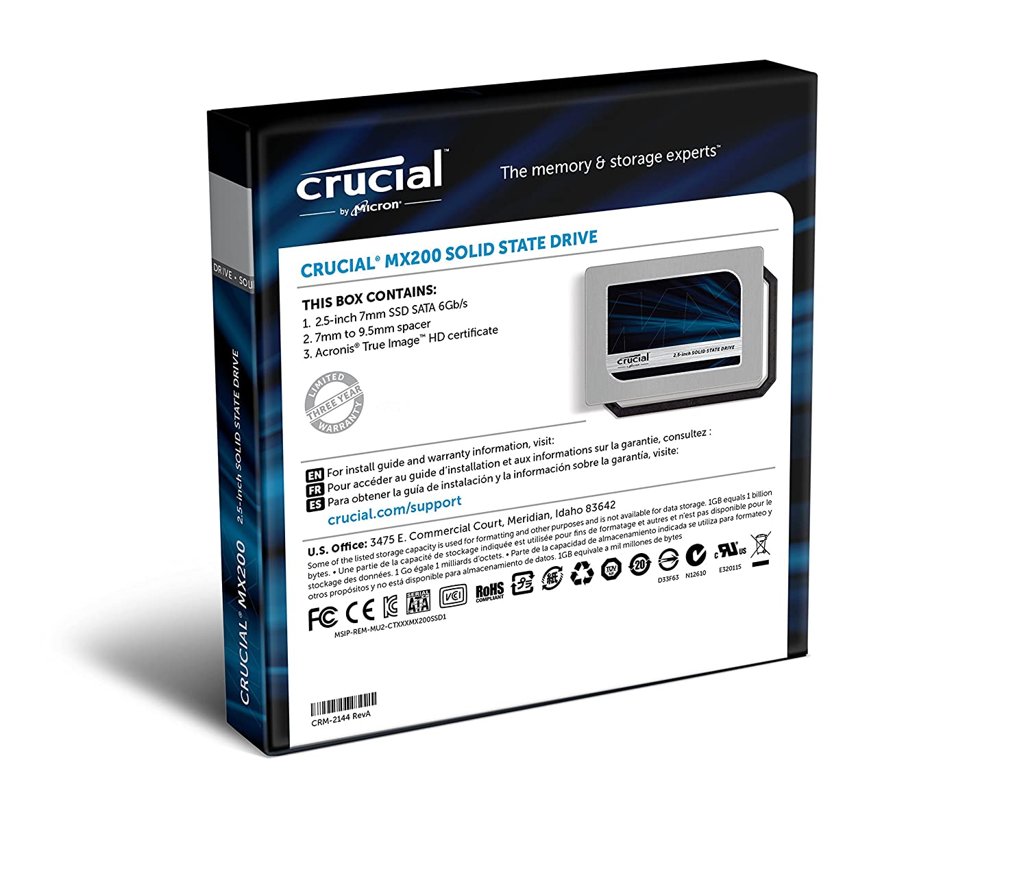 Amazon Com Old Model Crucial Mx200 500gb Sata 2 5 7mm With 9 5