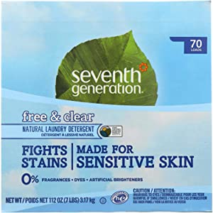 Seventh Generation Free and Clear Natural Laundry Detergent Powder, 112 Ounce - 4 per case.