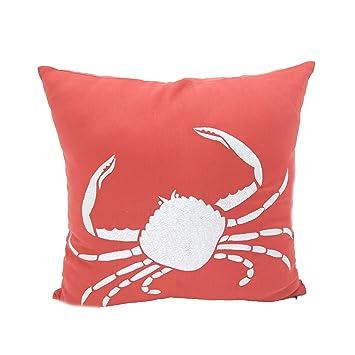 Amazon.com: Cangrejo decorativo Square Throw Pillow Case ...