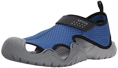 crocs Herren Swiftwater River Sandal Men Römersandalen, Schwarz (Black), 41/42 EU