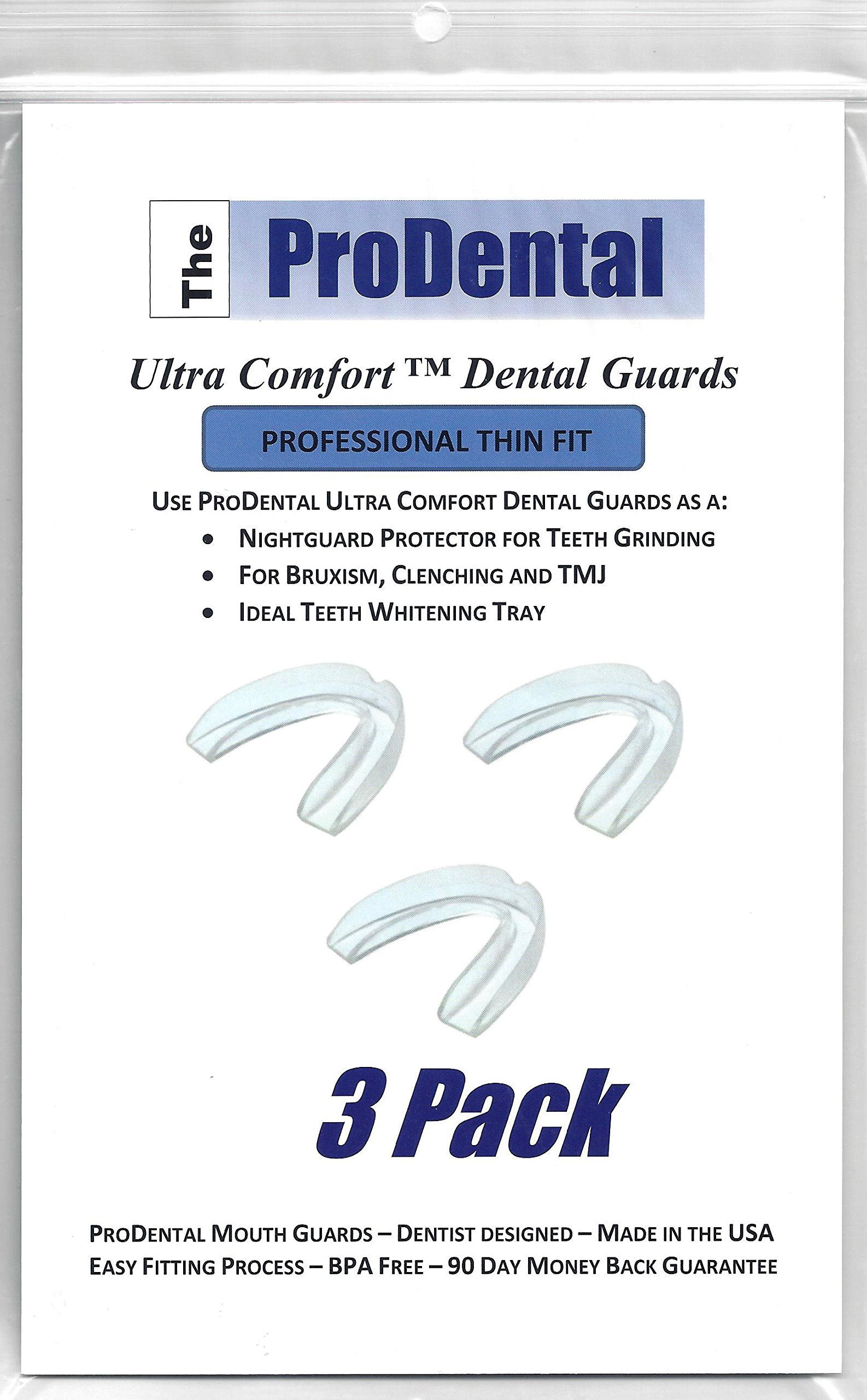 ProDental Thin and Trim Anti Grinding, Teeth Whitening Mouth Guard, Pack of 3